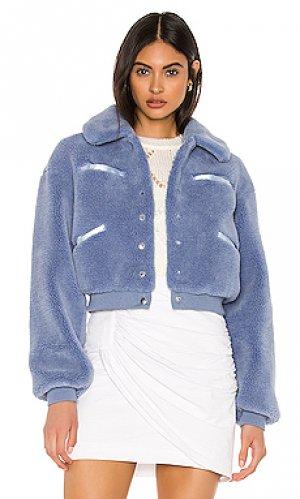 Куртка rex MAJORELLE. Цвет: синий