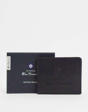 Кожаный кошелек для монет -Черный Ben Sherman