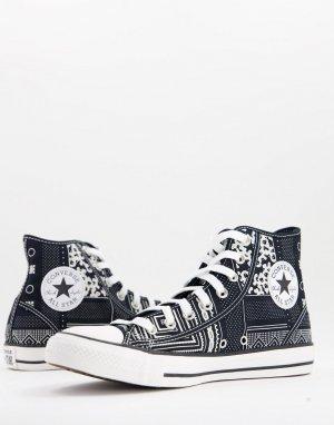 Черные кроссовки с принтом банданы Chuck Taylor All Star Hi-Черный цвет Converse