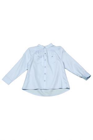 Блузка Mango Kids. Цвет: 50 голубой