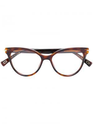 Tortoiseshell cat eye glasses Marc Jacobs Eyewear. Цвет: коричневый