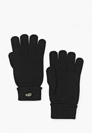 Перчатки Lacoste. Цвет: черный
