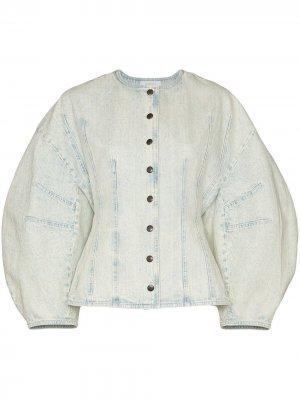 Джинсовая куртка с объемными рукавами Givenchy. Цвет: синий