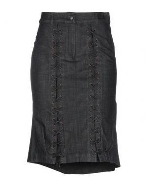 Джинсовая юбка ISABEL DE PEDRO. Цвет: черный