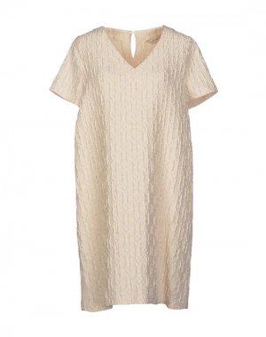 Короткое платье CLOTILDE. Цвет: бежевый