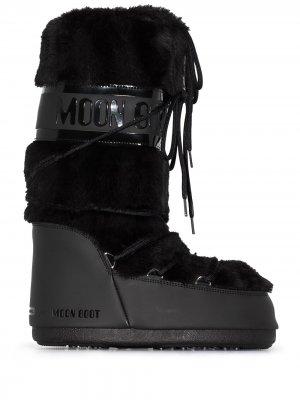 Дутые сапоги с искусственным мехом Moon Boot. Цвет: черный