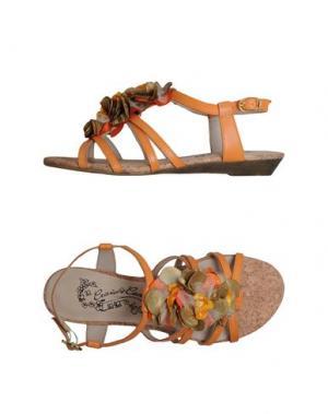Сандалии CRAVO & CANELA. Цвет: абрикосовый