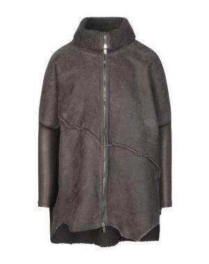 Пальто 10SEI0OTTO. Цвет: темно-коричневый