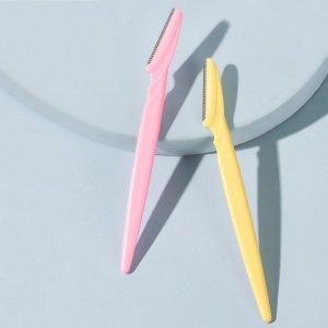 2шт триммер для бровей случайного цвета SHEIN. Цвет: многоцветный