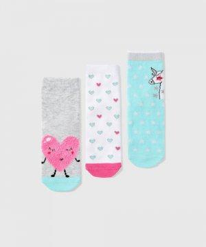 Носки для девочек O`Stin. Цвет: серебряный