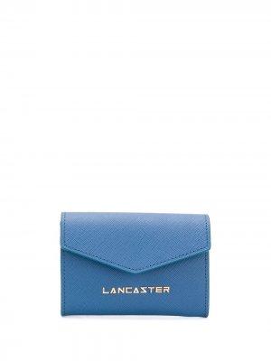 Компактный кошелек с логотипом Lancaster. Цвет: синий