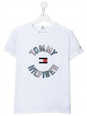Футболка с логотипом Tommy Hilfiger Junior. Цвет: белый
