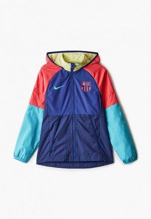 Ветровка Nike FCB Y NK AWF LTE JKT. Цвет: разноцветный