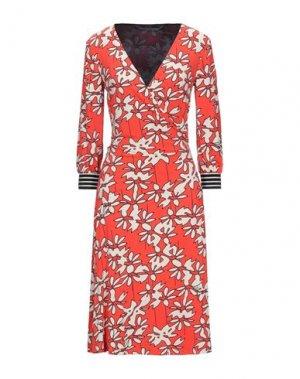 Платье до колена LAURÈL. Цвет: красный