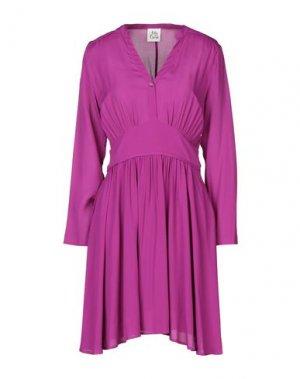 Короткое платье ATTIC AND BARN. Цвет: розовато-лиловый