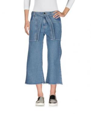 Джинсовые брюки-капри VICTORIA, VICTORIA BECKHAM. Цвет: синий