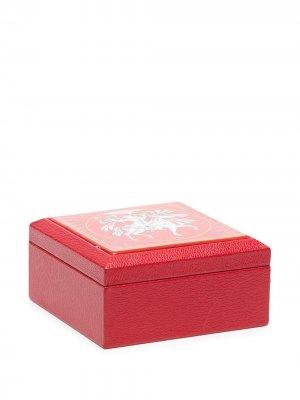 Шкатулка pre-owned с принтом Hermès. Цвет: красный