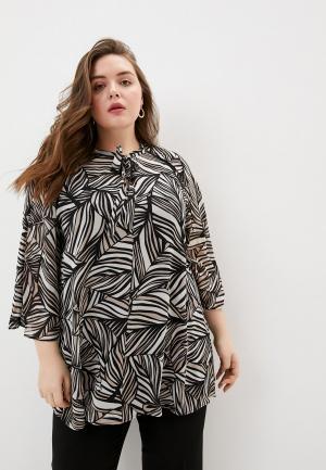 Блуза Elena Miro. Цвет: бежевый