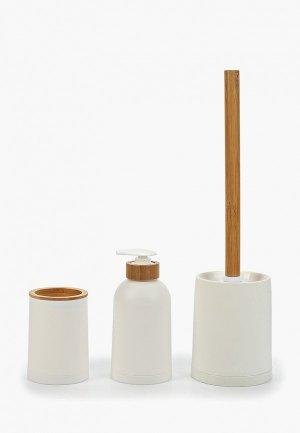 Набор аксессуаров для ванной Balvi Zen. Цвет: белый