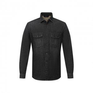 Джинсовая рубашка Z Zegna. Цвет: чёрный