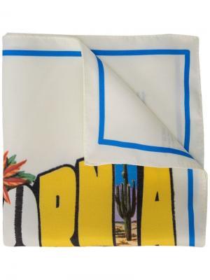Шарф с принтом открытки California Amélie Pichard. Цвет: желтый