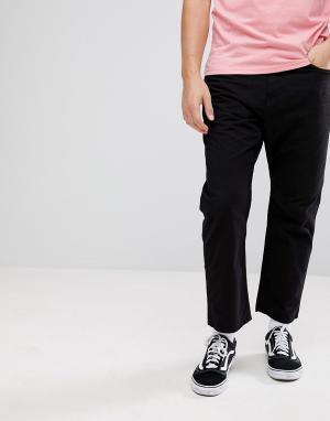 Черные брюки классического кроя WIP Carhartt. Цвет: черный