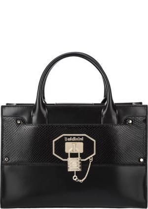 Кожаная сумка с двумя отделами Frida Baldinini. Цвет: черный