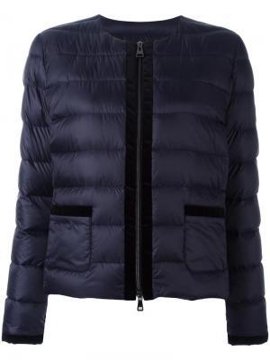 Куртка-пуховик Hogan. Цвет: синий