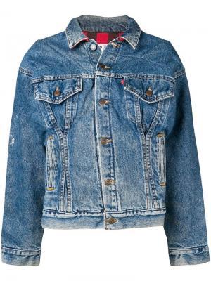 Джинсовая куртка Corset RE/DONE. Цвет: синий