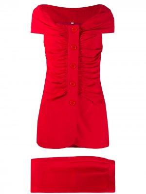 Комплект из юбки и блузки со сборками Gianfranco Ferré Pre-Owned. Цвет: красный