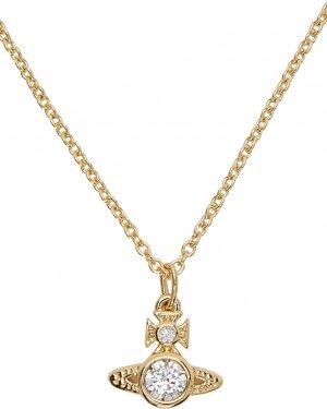 Gold London Orb Pendant Necklace Vivienne Westwood. Цвет: wt cz gold
