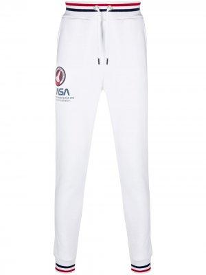 Спортивные брюки с логотипом Alpha Industries. Цвет: белый