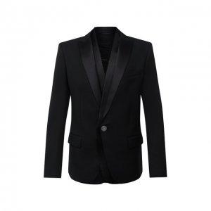 Шерстяной пиджак Balmain. Цвет: чёрный