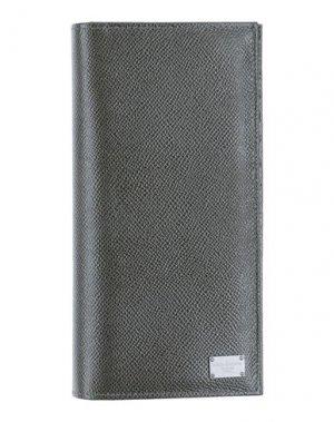 Бумажник DOLCE & GABBANA. Цвет: зеленый-милитари