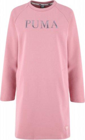 Платье женское Athletic, размер 42-44 Puma. Цвет: розовый
