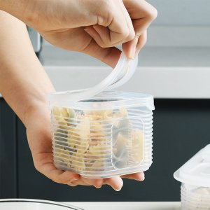 Прозрачный пищевой контейнер с крышкой 1шт SHEIN. Цвет: прозрачный