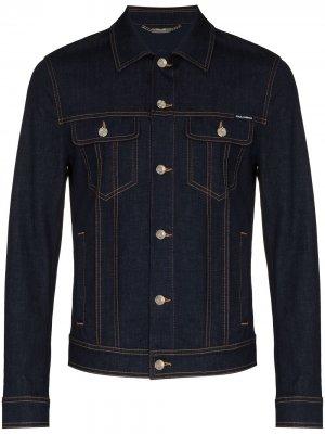 Джинсовая куртка на пуговицах Dolce & Gabbana. Цвет: синий
