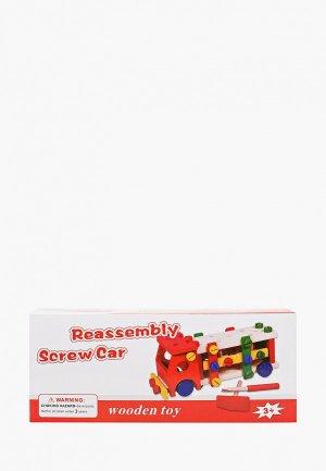 Конструктор Рыжий Кот -стучалка, МАШИНКА, 26х11,5 см. Цвет: разноцветный