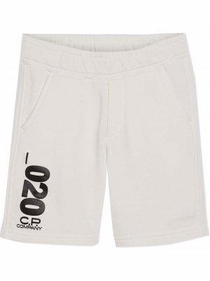 TEEN 020 cotton track shorts C.P. Company Kids. Цвет: черный