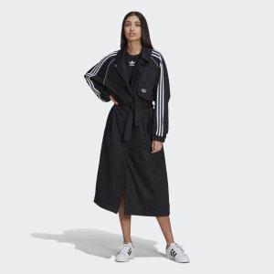 Плащ Primeblue Trench Originals adidas. Цвет: черный