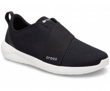 Слипоны мужские CROCS Mens LiteRide™ Modform Slip-On Black/White арт. 206069. Цвет: black/white