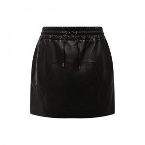 Кожаная юбка Tom Ford. Цвет: чёрный