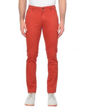 Повседневные брюки BOSS HUGO. Цвет: ржаво-коричневый