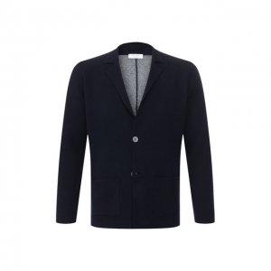 Пиджак из смеси шерсти и вискозы Gran Sasso. Цвет: синий