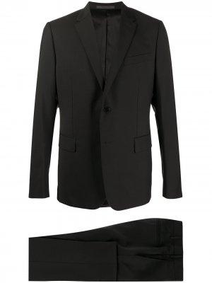 Костюм с однобортным пиджаком Valentino. Цвет: черный