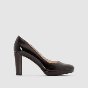 Туфли кожаные Kendra Sienna CLARKS. Цвет: черный лак