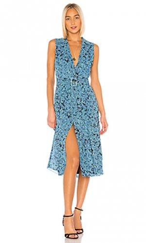 Платье миди cleo LAcademie L'Academie. Цвет: синий