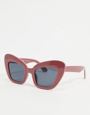 Розовато-лиловые солнцезащитные очки «кошачий глаз» -Фиолетовый цвет AJ Morgan