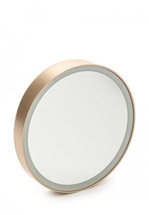 Зеркало Gezatone LM100 косметологическое 10x, с подсветкой, золотое