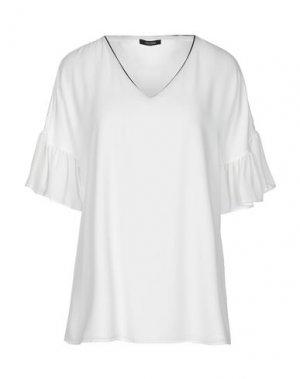 Блузка FRACOMINA. Цвет: белый